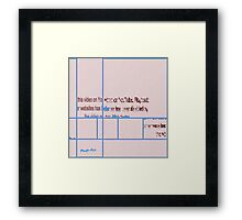 VIDEO REMOVED DDD ROOTCAT Framed Print