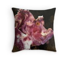 Paddleflap Scorpionfish Throw Pillow
