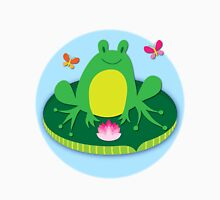 Frog on a Lily Pad Womens Fitted T-Shirt