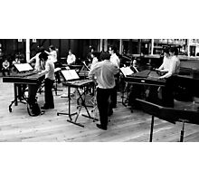 Percussion ensemble at the Royal Opera House Photographic Print