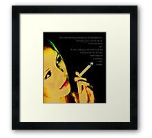 And then I am Ashes Framed Print