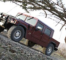 Hummer H1 in the Desert by Irfan Hussain