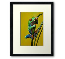 On the reeds Framed Print