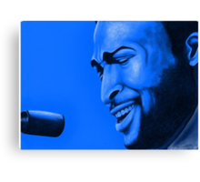 Marvin in blue Canvas Print