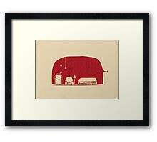 Elephant in the Room Framed Print