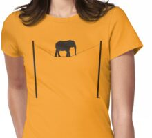 The great elephant act Womens Fitted T-Shirt