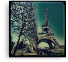 Retro Eiffel Tower Canvas Print