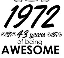 MADE IN 1972 43 YEARS OF BEING AWESOME by badassarts