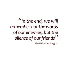 In the end we will remember... (Amazing Sayings) by gshapley