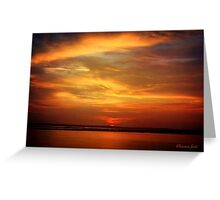Sunset ~ Dramatic and Romantic Greeting Card