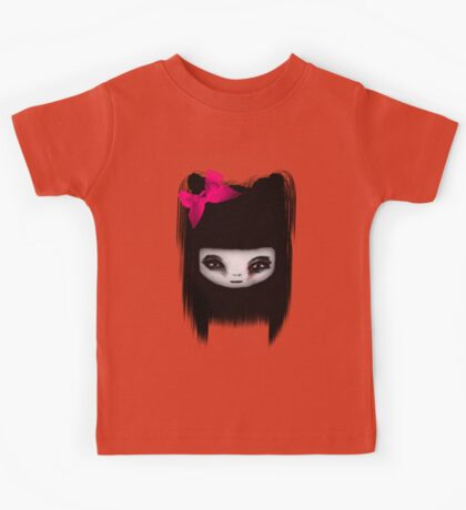 Little Scary Doll Kids Tee