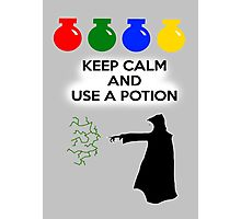 Keep Calm and Use a Potion Photographic Print