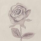 A Rose all alone by LadyE