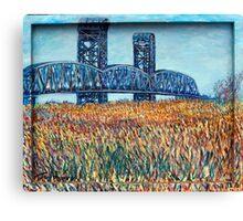 Blue Border Bridge Canvas Print