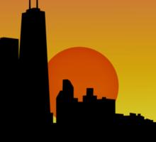 Chicago Skyline at Sunset Sticker