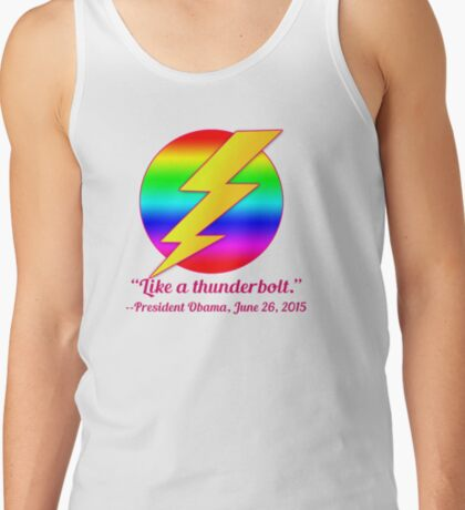 Like a Thunderbolt Gay Marriage Commemorate Tank Top