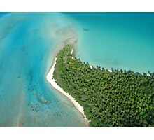 aitutaki from the sky Photographic Print