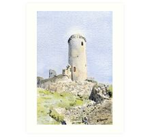 The tower at Piégut, France Art Print