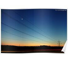 Electric Light Trails Poster