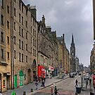 Looking up the High Street by Tom Gomez