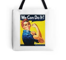 Rosie the Riveter classic wartime image Tote Bag