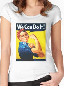 Rosie the Riveter classic wartime image Women's Fitted Scoop T-Shirt