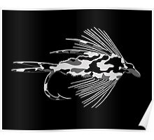 Black Camo Fly - Art Poster