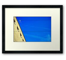 White on Wire Framed Print