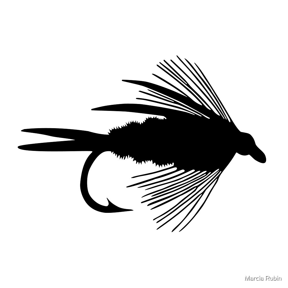 The Perfect Black Fly  -  Art by Marcia Rubin