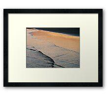 dusk's reflection Framed Print