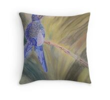 Hummingbird - pastel on paper Throw Pillow
