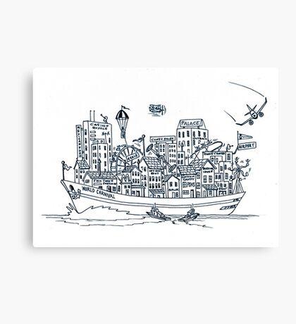 Let's Set Sail Canvas Print
