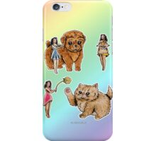 Tiny Pin ups ans Fluffy Pets iPhone Case/Skin
