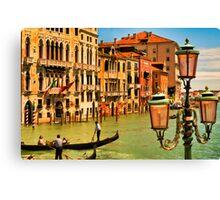 Venice Street Lamp Canvas Print