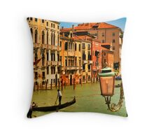 Venice Street Lamp Throw Pillow
