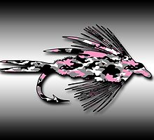Pink Camo Fly - Art by Marcia Rubin