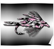 Pink Camo Fly - Art Poster