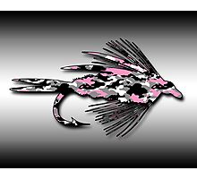 Pink Camo Fly - Art Photographic Print