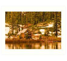 Salmon Lake Lodge Art Print