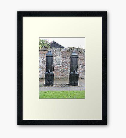 Historic Water Pumps Framed Print