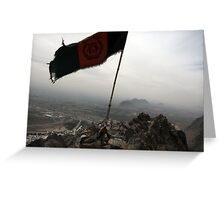 Above Afghanistan  Greeting Card
