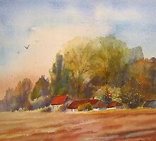 Autumn on the Marsh- Kent by Beatrice Cloake Pasquier