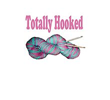 Totally hooked pink lettering Photographic Print