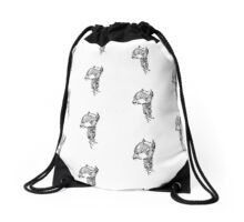 robo pup_monochromatic  Drawstring Bag