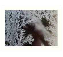 Icicle formation in Winter Art Print