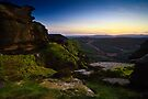 Sunset, Coe Crags - Northumberland National Park by David Lewins