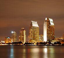 San Diego city skyline by rkdownton