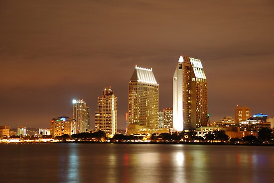 San Diego city skyline by rkdownton
