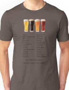 Beer in 26 Languages for Internationional Travelers Unisex T-Shirt