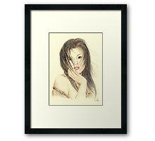 """Serina"" Colour Pencil Artwork Framed Print"
